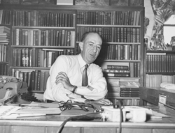 Bill Carr at his desk
