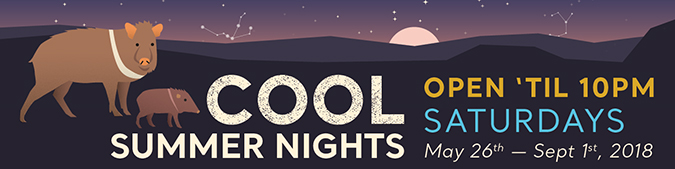 Cool Summer Nights May 26 - September 1, 2018 Saturday: Open 'til 10:00 p.m.