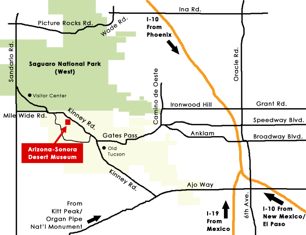 map to Desert Museum