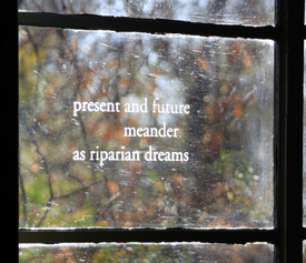 Poem on window of the Cottonwood